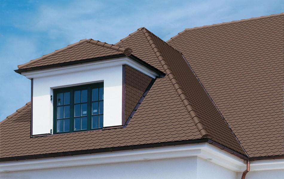 Dachziegel dunkelbraun  Dachziegel OPAL STANDARD von BRAAS - günstige Baustoffe online.