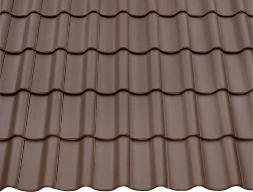 Dachziegel dunkelbraun  Achat 14, ein Hohlfalzziegel von BRAAS. - günstige Baustoffe online.