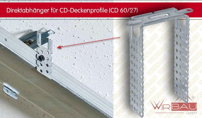 direktabh nger f r cd deckenprofile g nstige baustoffe. Black Bedroom Furniture Sets. Home Design Ideas