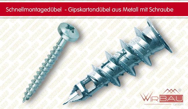 Super Gipskartondübel aus Metall - günstige Baustoffe online. NQ77