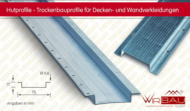Gut bekannt Hutprofil - günstige Baustoffe online. KG18