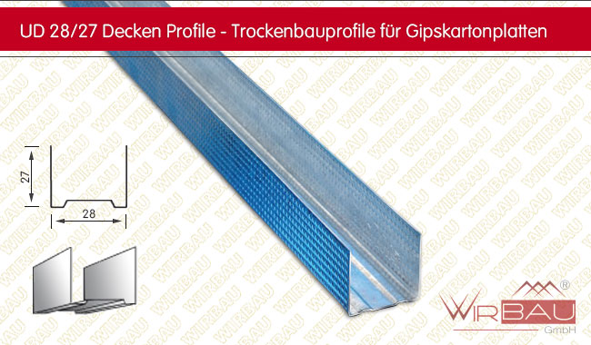 Ud Decken Profil Trockenbauprofile Fur Gipskartonplatten