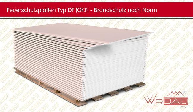 Fabulous Feuerschutzplatten aus Gipskarton Typ DF (GKF) - günstige XW79