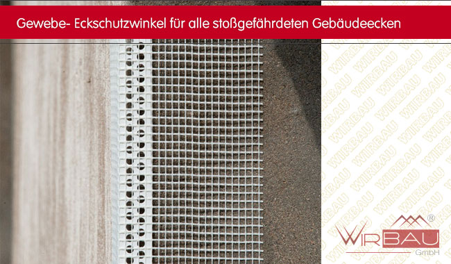 Gewebeeckwinkel für die Fassadendämmung - Eckschutzwinkel für alle ...